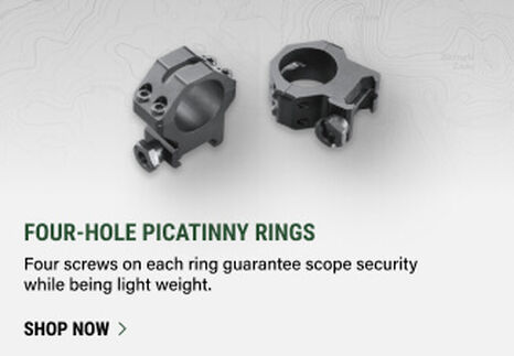 Four-Hole Picatinny Rings on light background