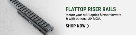 Flattop Riser Rails on light background