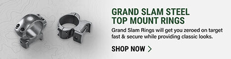 Grand Slam Steel Top Mount Rings on light background